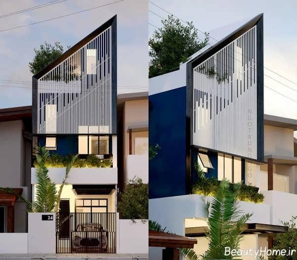 نمای ساختمان های جدید و مدرن اروپایی برای خانه های ویلایی