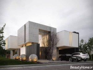 نمای شیک و زیبا ساختمان ویلایی
