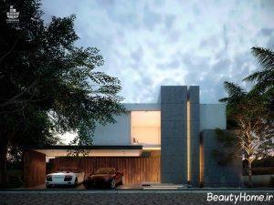 نمای مدرن و شیک ساختمان اروپایی