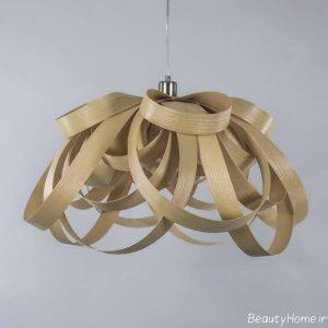 مدل لوستر چوبی