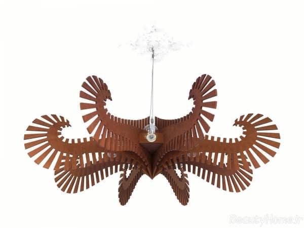 مدل لوستر مدرن و زیبا چوبی