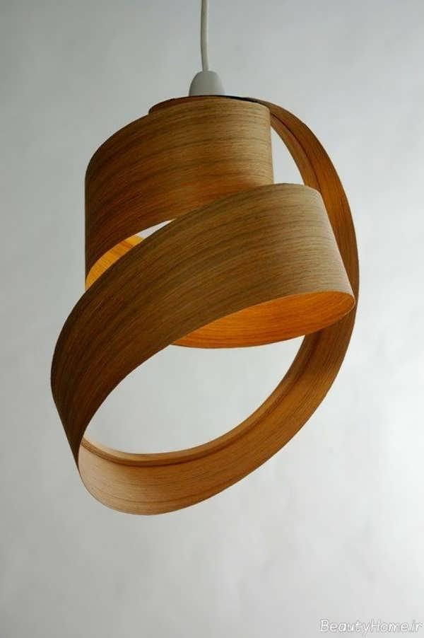 مدل لوستر چوبی آویز