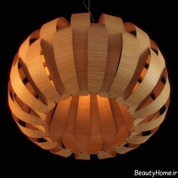 مدل لوستر زیبا و جذاب چوبی
