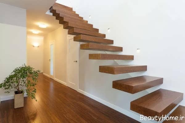 مدل شیک و زیبا راه پله داخل ساختمان