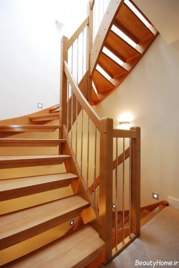 مدل راه پله زیبا چوبی