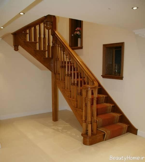 مدل راه پله جذاب چوبی