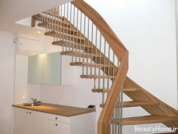 مدل های راه پله ساده و چوبی