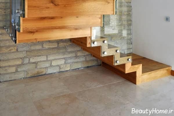 مدل راه پله فانتزی چوبی