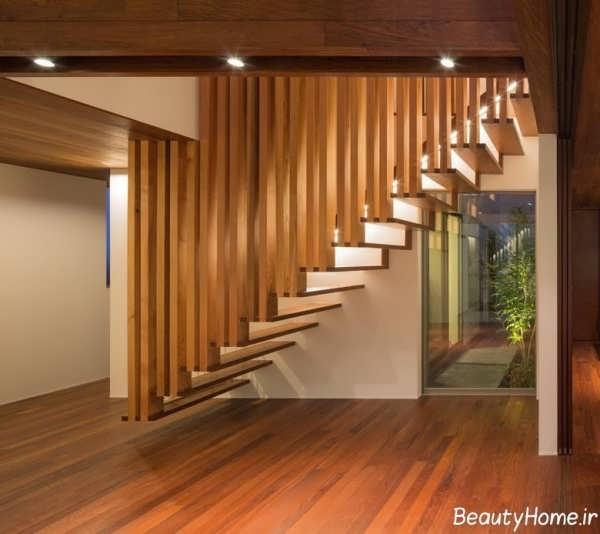 راه پله های چوبی برای داخل ساختمان
