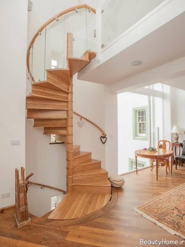 مدل راه پله مدرن چوبی