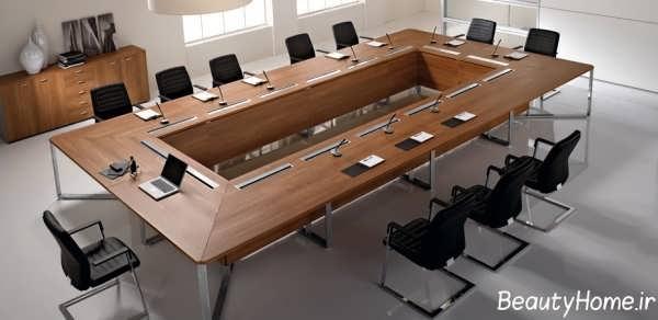مدل میز زیبا و بزرگ مخصوص کنفرانس