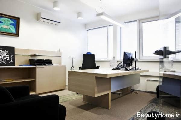 دکوراسیون شیک و کاربردی اتاق ریاست