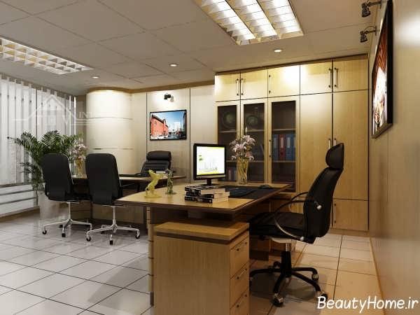 دکوراسیون شیک و مدرن اتاق ریاست