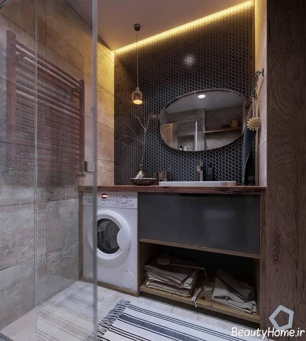 دکوراسیون داخلی زیبا و متفاوت سرویس بهداشتی