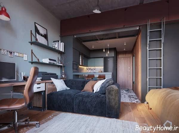 طراحی شیک و کاربردی اتاق نشیمن