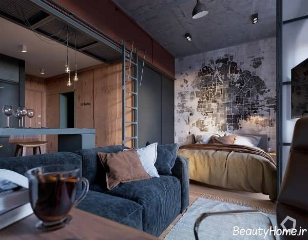 دکوراسیون زیبا و متفاوت آپارتمان کوچک