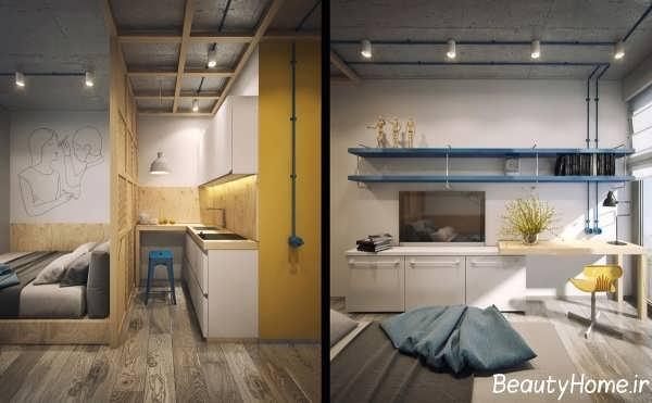 دکوراسیون داخلی زیبا و بی نظیر آپارتمان