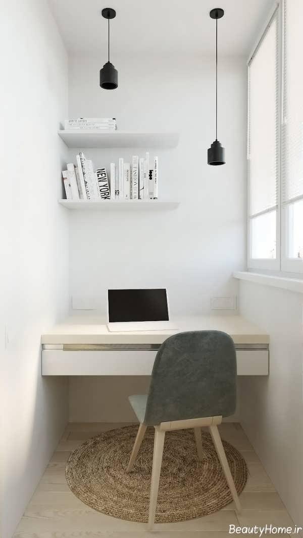 طراحی دکوراسیون اتاق کار کوچک
