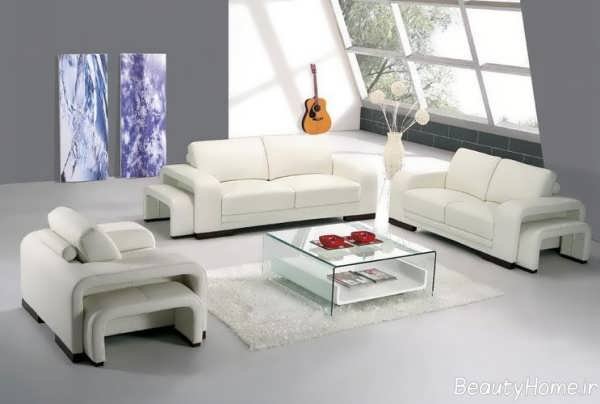 مدل مبل سفید و راحتی