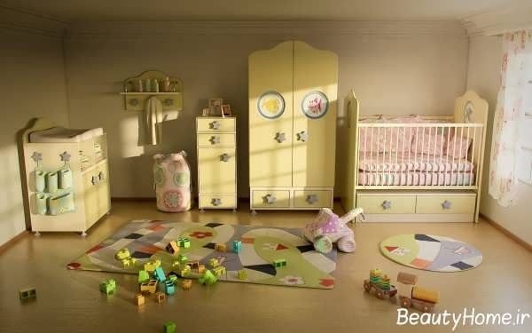 طراحی داخلی اتاق نوزاد پسر