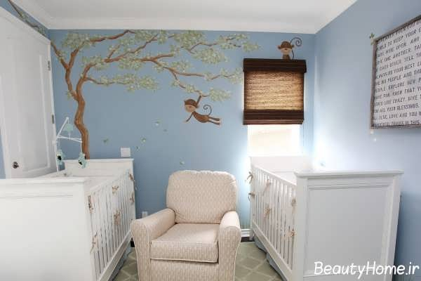 انواع نقاشی دیوار در دکوراسیون اتاق نوزاد