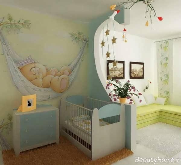 دکوراسیون مدرن اتاق نوزاد پسر