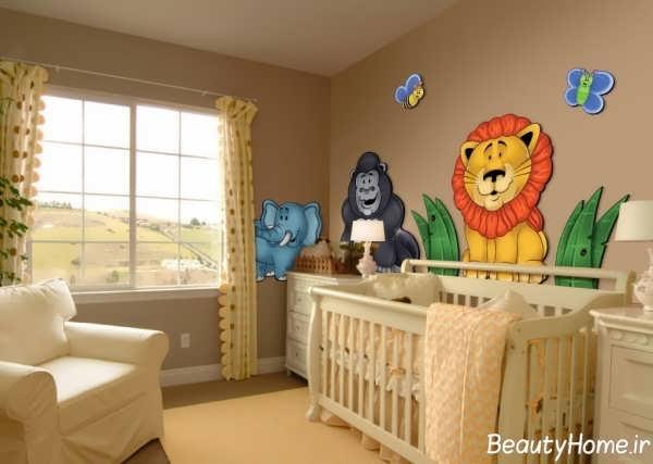 دکوراسیون کودکانه اتاق نوزاد پسر
