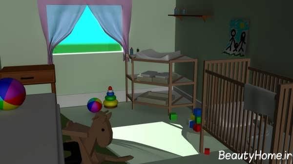 طراحی جدید اتاق خواب نوزاد پسر