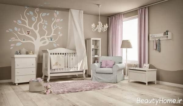طراحی مدرن اتاق خواب نوزاد