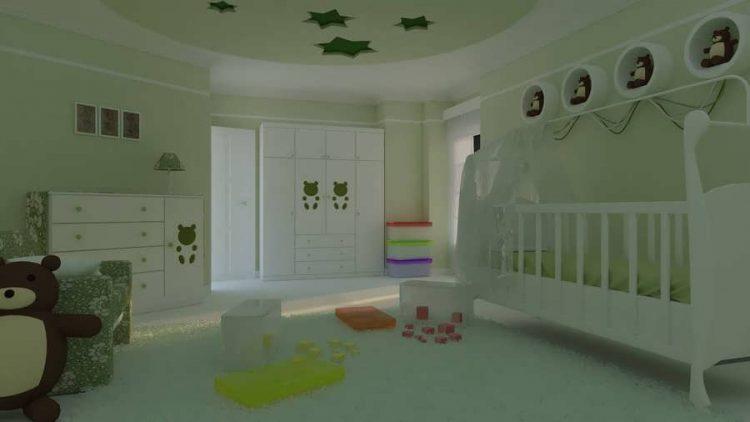 انواع دکوراسیون اتاق خواب نوزاد پسر