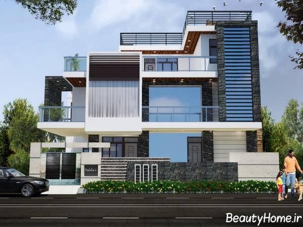 مدل های جدید نمای ساختمان دوطبقه