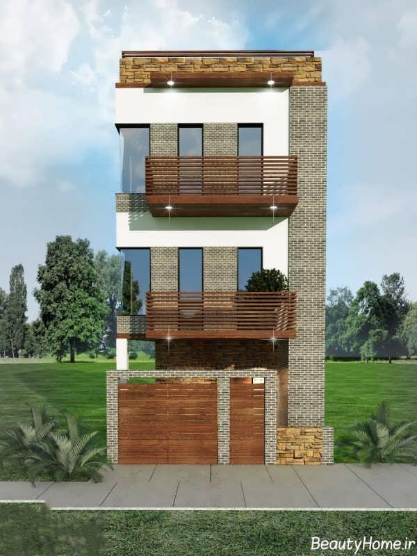 نمای خارجی انواع ساختمان دو طبقه
