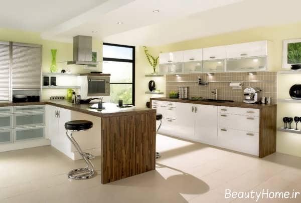 طراحی کابینت جزیره آشپزخانه