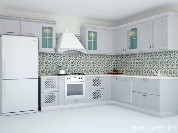 ترکیب رنگ در آشپزخانه کلاسیک