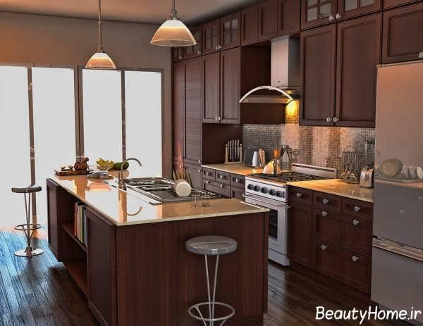 چیدمان وسایل آشپزخانه کلاسیک