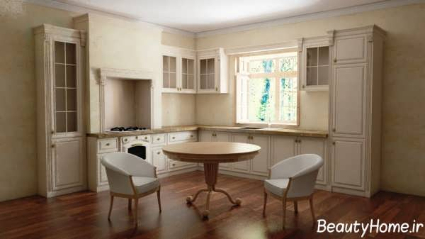 دکوراسیون منحصر به فرد آشپزخانه کلاسیک