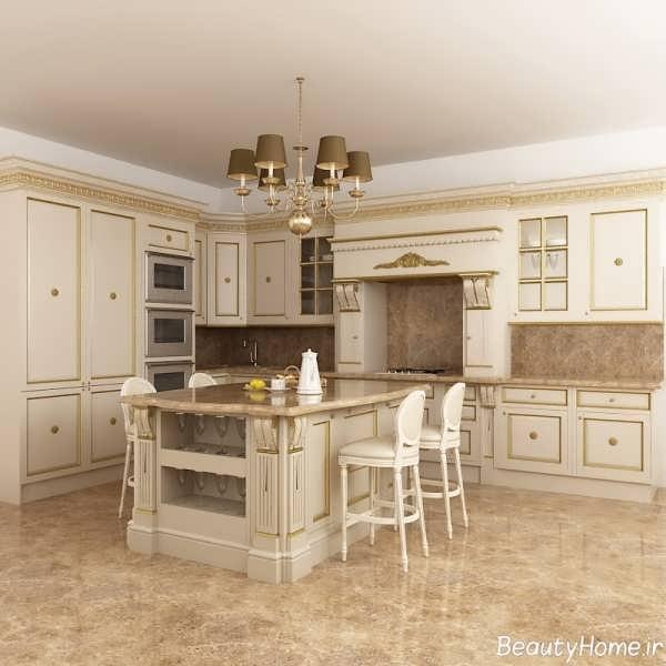 تصاویر دکوراسیون داخلی آشپزخانه کلاسیک
