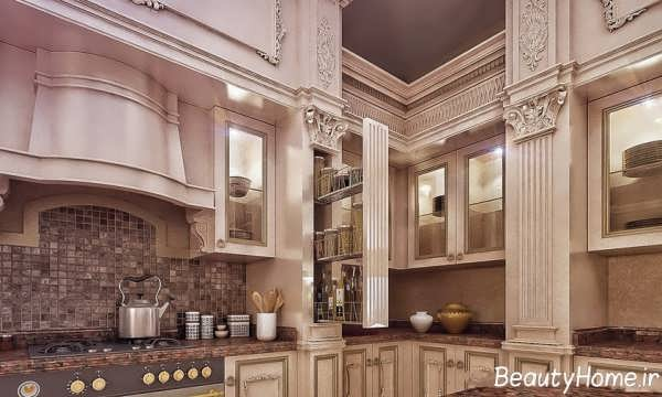 دکوراسیون کابینت آشپزخانه کلاسیک