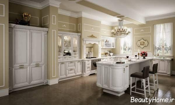 دکوراسیون طراحی کابینت آشپزخانه کلاسیک