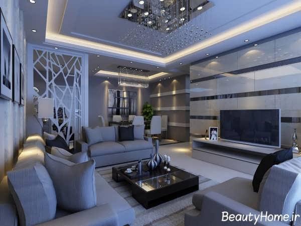طراحی پذیرایی منزل مدرن
