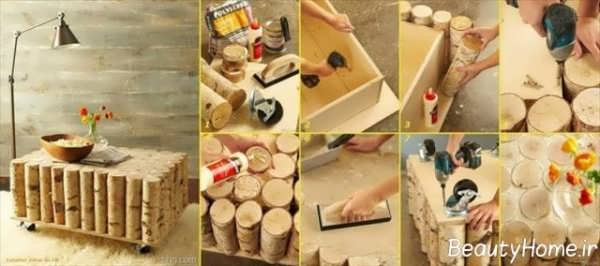 تزیین منزل با چوب
