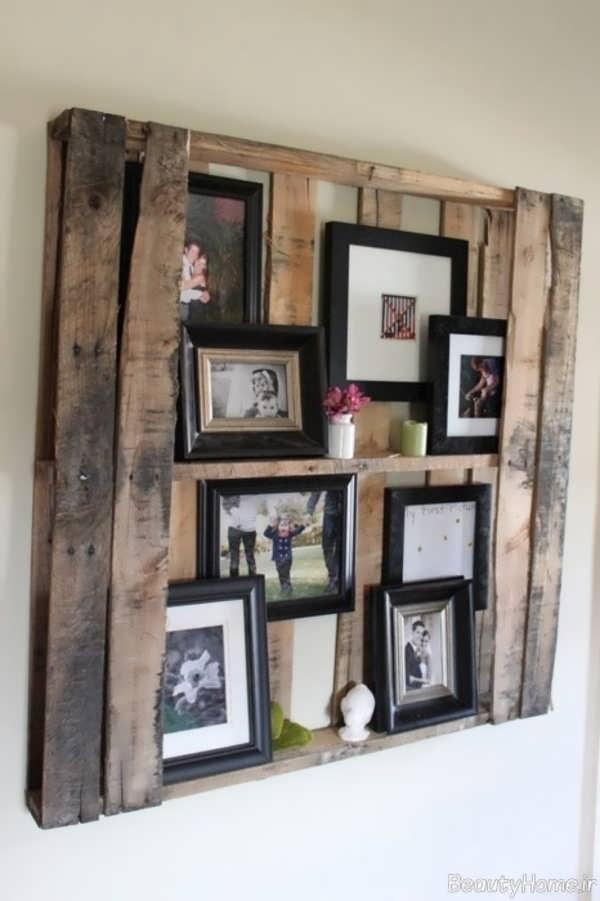 تزیین دیوار با کمک قاب عکس های خانوادگی