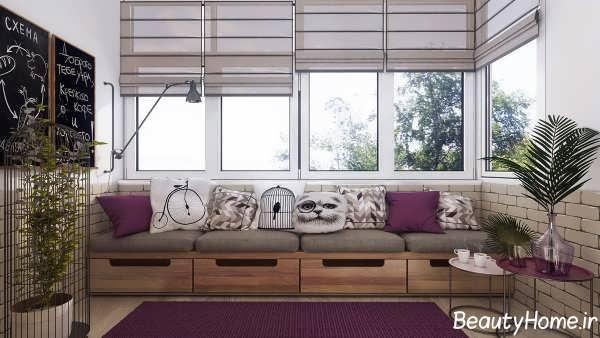 طراحی داخلی اتاق نشیمن کوچک