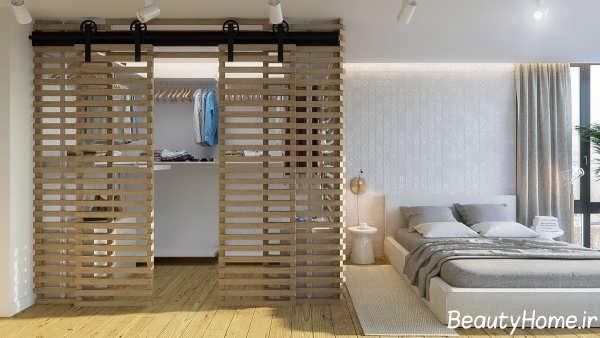 دکوراسیون چوبی جدید اتاق خواب