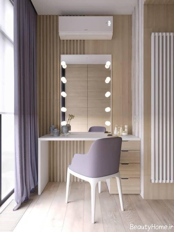 دکوراسیون چوبی در سالن آرایش