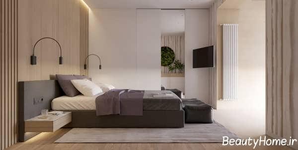 شیک ترین دکوراسیون چوبی اتاق خواب