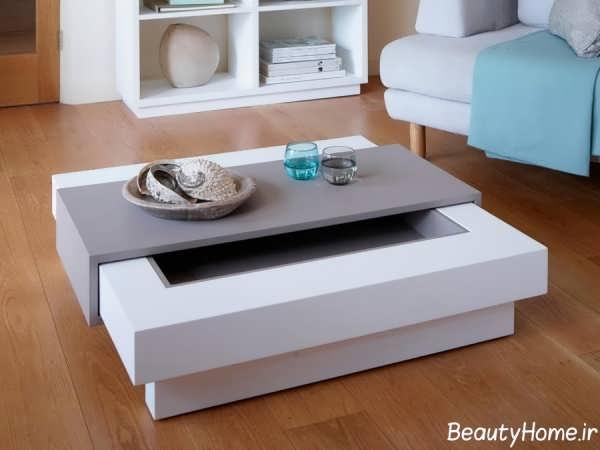 میز جلو مبلی ساده و مدرن