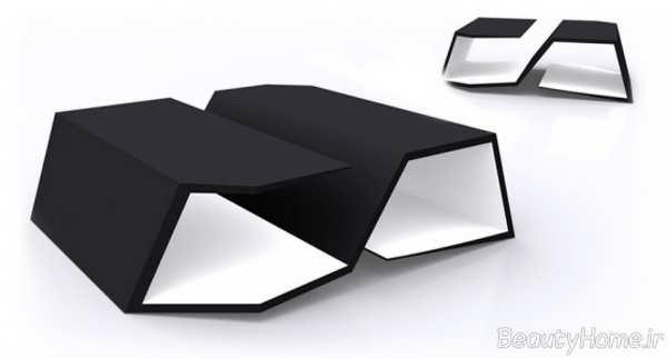 میز جلو مبلی هندسی شکل و مدرن