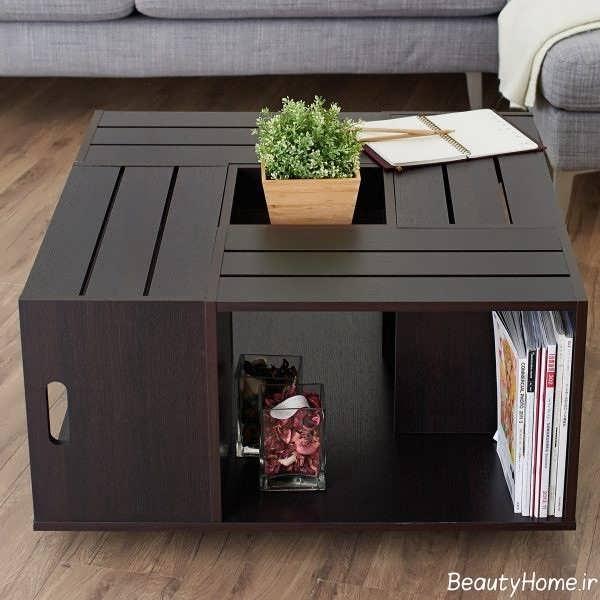 میز جلو مبلی چوبی و جدید مدرن