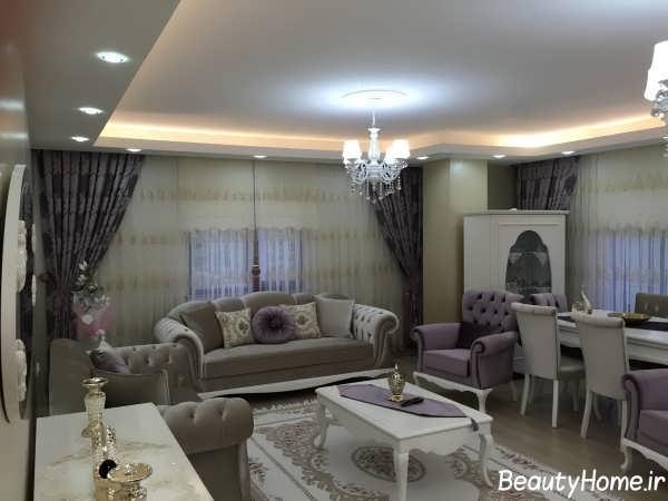 مدل کتیبه ساده مدل پرده جدید برای اتاق پذیرایی خانه های ایرانی
